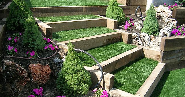 Jardines en terrazas cerjardin centro integral de - Jardines en pendiente ...